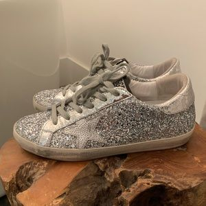Golden Goose Silver Glitter Superstar